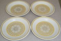 "SET OF 4 FRANCISCAN HACIENDA GOLD  BREAD / BUTTER PLATES   about 6 1/2"" across"