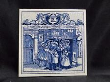 Royal Delft Pill / Apothecary / Pharmacy Tile: Social Gathering Place, BW-Y03477