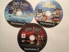 3x PLAYSTATION 2 PS2 HARRY POTTER GAMES QUIDDITCH W/CUP +GOBLET OF FIRE +AZKABAN