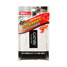 GATSBY Japan Facial Oil Absorbing Paper 70 Sheets Black Type Super Oil Clear NEW