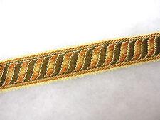 Frontera Marrón 2.6cm Tejido Trenzado recorte tapicería POR METRO cortina Adorno