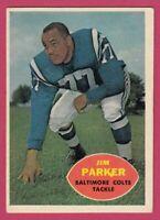 1960 Topps Football # 5 Jim Parker -- Baltimore Colts -- Box 708-156