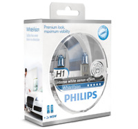 Philips White Vision Headlight Halogen Bulbs Xenon Effect H1 Twin Pack