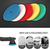 "5Pcs 6"" Polyether Buffing Sponge Polishing Pad For Car Buffer Polisher Sanding"