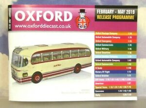OXFORD DIECAST 48 PAGE POCKET CATALOGUE FEBRUARY TO MAY 2019 RELEASE SCHEDULE