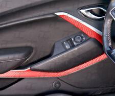 2016-2019 Camaro RED Carbon Fiber Door Panel Trim Accent Decal kit- Chevy (2)