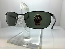 AUTHENTIC RAYBAN  RB 3534 002 BLACK/GREEN LENS 62MM