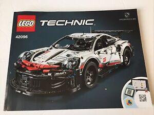 Lego Technic Porsche 911 RSR 42096 Manual Instruction Book ONLY NO BRICKS