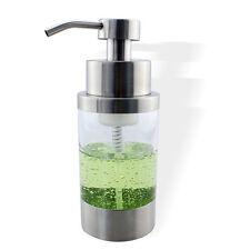 1x Foaming Foam Soap Dispenser Pump Kitchen Countertop Bottle Stainless Steel