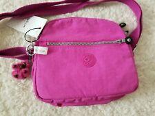 Kipling Keefe Nylon Crossbody Messenger Shoulder Bag Pink Orchid Monkey NWT