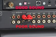 Receiver Integrated Amp Upgrade RCA Audio Cable Jumper Preamp-Out Main-In Cardas