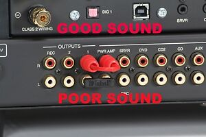 Receiver Integrated Amp Upgrade RCA Audio Cable Jumper Preamp-Out Made W. Cardas