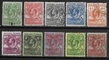 Falkland Islands stamps 1929 SG 116-125 CANC VF