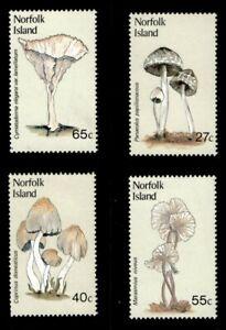 Norfolk Island 1983 - Local Mushrooms - Set of 4v - Scott 306-09 - MNH