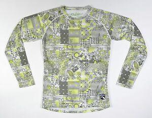 Dakine CREW Womens Mid-Weight Base Layer Top Medium White Print NEW