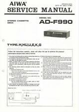AIWA AD-F990 AD F 990 - CASSETTE DECK - SERVICE MANUAL IN COLOR VERSION -