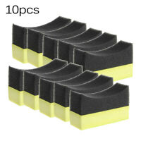 10pcs/set Tyre Tire Dressing Applicator Curved Foam-Brush Car Sponge Pad Parts