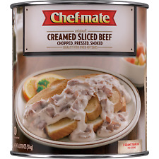 Chef-mate Creamed Sliced Beef, Canned Food and Canned Meat, 6 lb 10 oz (#10 Can.