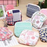 Women Napkin Tampon Holder  Floral Sanitary Bag Towel Pads Canvas Bag Coin Purse