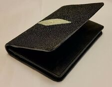 Genuine Stingray Wallets Skin Leather Bifold ID Card Credit Card Men's Bag Black