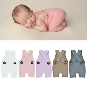 BE_ Newborn Baby Knit Photography Rompers Clothes Photo Studio Costume Props New