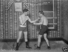 Boxers Jim Driscoll v Eddie Johnson 1900 Boxing 7x5 Inch Photo Reprint
