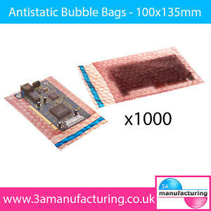 Antistatic Bubble Wrap Bags 305 x 435mm + self seal lip (Pack Qty:1 x 250)