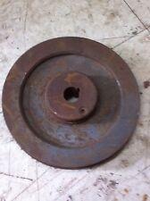 vtg Cast iron steam Punk Pulley Wheel 6.5  in diameter  belt drive