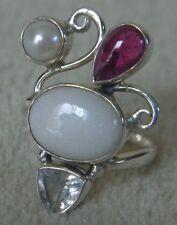JTV Artisan Gem Sterling Silver Ring Size 6 Taj Mahal Tourmaline ~ FREE SHIPPING