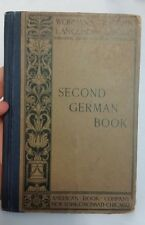 WORMAN'S MODERN LANGUAGES Second German Book 1881 J.H. Worman American Book Co