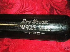 MARCUS GILES Uncracked Game Bat BRAVES,PADRES