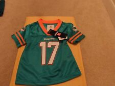 MIAMI DOLPHINS 12 MONTHS BABY BOY'S GIRL'S TANNEHILL NO. 17 SHIRT NEW
