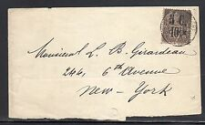Guadeloupe France #10 to US 1891 b103