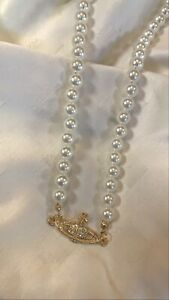 vivienne westwood pearl plant orb necklace- free shipping