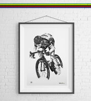 Mark Cavendish Art Print Poster Cycling Drawing gift