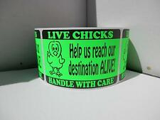 LIVE CHICKS Help us reach our destination ALIVE Hatching Egg green Labels 250/rl