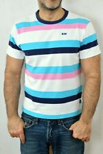 Franklin Marshall Made in Italy Vtg 90s Striped Multi T Shirt Muscle fit Nice L