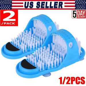 Bath Foot Cleaner Feet Scrubber Exfoliating Cleaning Brush Washer Shower Shoe~