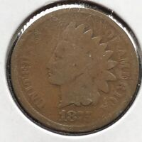 1875 Indian Head Cent 1c Circulated #10872