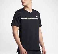 NikeCourt Dry Challenger Men's Short-Sleeve Tennis Top 'Black' (M) 830897 010