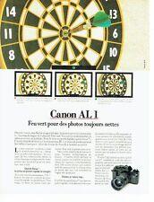 PUBLICITE ADVERTISING 027  1982  Canon  appareil photo AL 1
