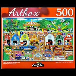 500 Piece Jigsaw Puzzle Puzzlebug 18 in. x 11 in., Farm Country Fair