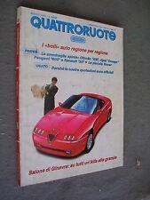 QUATTRORUOTE # 425 - MARZO 1991 - ALFA ROMEO SPIDER E RENAULT 25 - QUASI OTTIMO