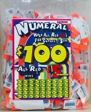 JAR TICKETS!!! 25c 1500ct SINGLES 0001-1500 Bingo Pull Tab Tip Board