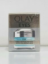 OLAY EYES DEEP HYDRATING EYE GEL TIRED DEHYDRATED SKIN HYALURONIC ACID 15ML