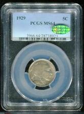 1929 Buffalo Nickel PCGS MS64 CAC Mint State 64