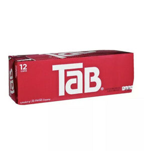 Tab Cola 12-Pack TAB Soda Soft Drinks Unopened Discontinued Sold Out🔥Sold Out🔥