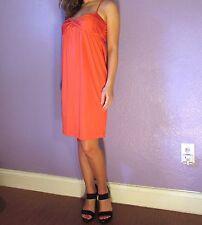 DVF $295 Candy Dress Poppy Spaghetti Straps Jersey 4 NWT DIANE von FURSTENBERG