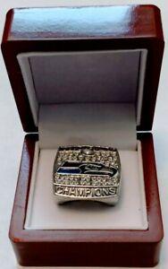 2013 SEATTLE SEAHAWKS Ring & Wooden Display Box Super Bowl Championship - WILSON
