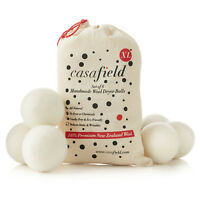 6 Wool Dryer Balls XL Organic New Zealand Wool Natural Laundry Fabric Softener